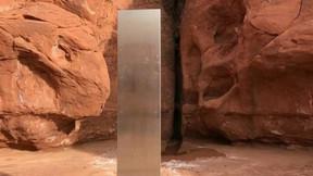 Misterioso monolito de metal descubierto en un área remota del desierto de Utah