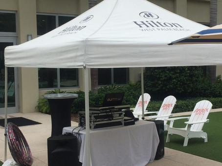 Hilton Hotel West Palm Beach DJ Photo Booth and Uplights Wedding Party