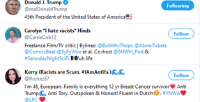 """Buscar en Twitter """"racista"""" devuelve a Donald Trump como resultado principal"""