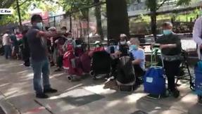 ¿La 'utopía' de De Blasio? Línea de banco de alimentos de un cuarto de milla detectada en Queens
