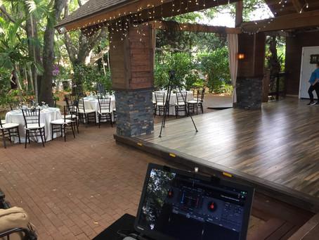Living Sculpture Sanctuary wedding DJ