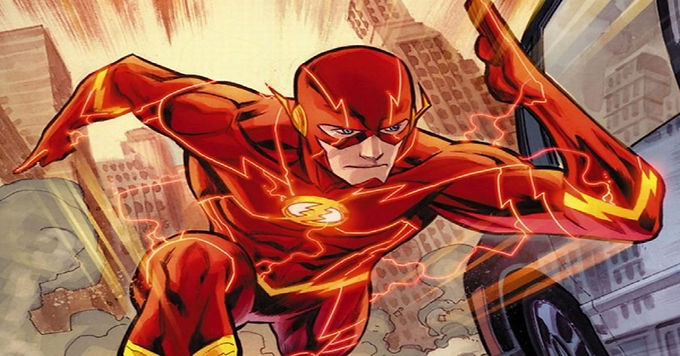 Flash Late to JLA Press Conference