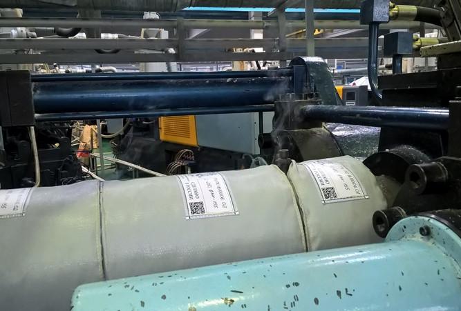Термоизоляционные чехлы на экструдере для переработки ПВХ