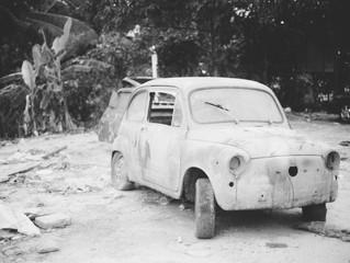 Beautiful Scrap Car