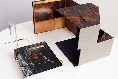 Jongku Kim, Fe-O, artist book, box book, cube, Sammy Lee