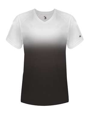 Ladies V-Neck Ombre T-Shirt