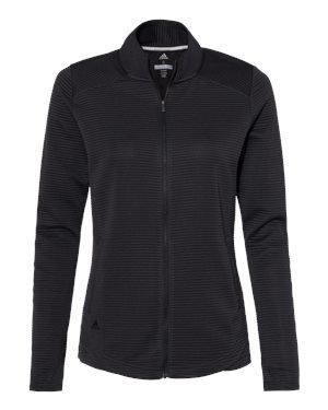 Ladies Adidas Textured Full-Zip Jacket