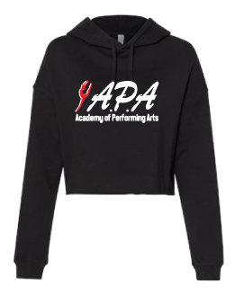 Ladies Cropped Hooded Sweatshirt