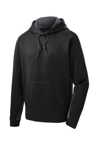 Adult Sport-Tek Fleece Colorblock Hooded Pullover