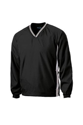 Adult Sport-Tek V-Neck Raglan Wind Shirt