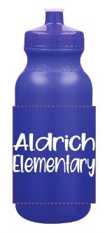 20 oz. Colored Plastic Bottle