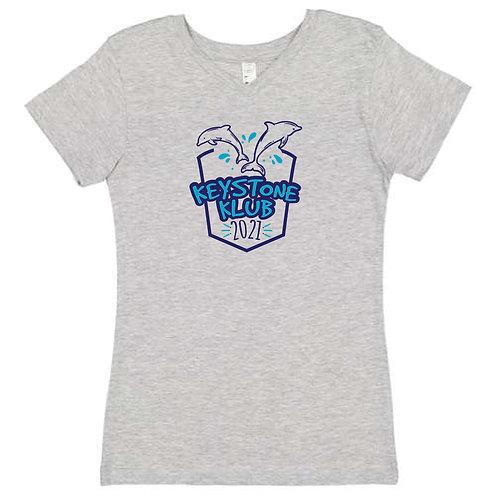 Girls Heather V-Neck T-Shirt