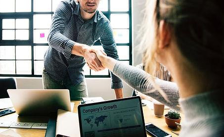 hiring handshake