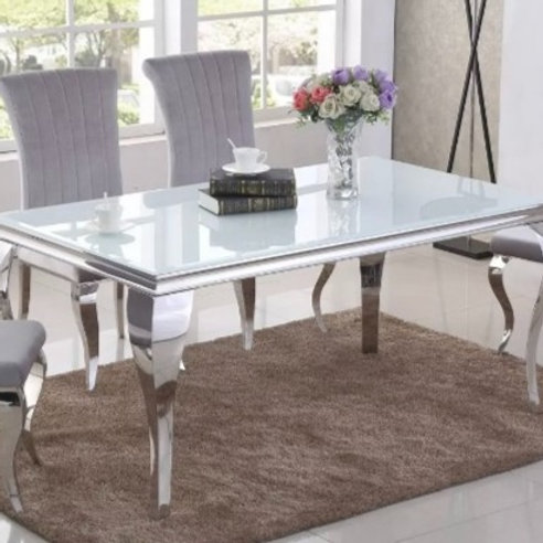 Luxury Stainless Steel Sweetheart Table