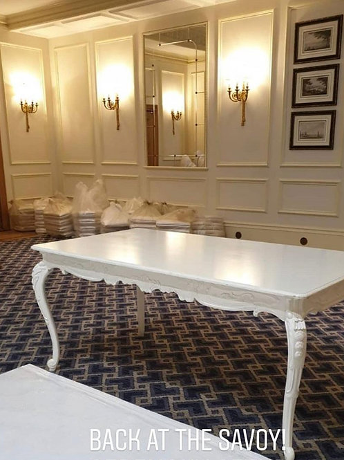 White French Ornate Table