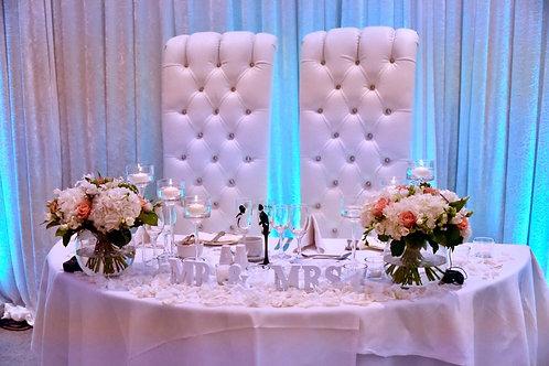 White Posh & Becks Throne Chairs