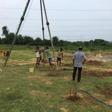 Piling-Work-Going-On-1MW-Ground-Mounted-