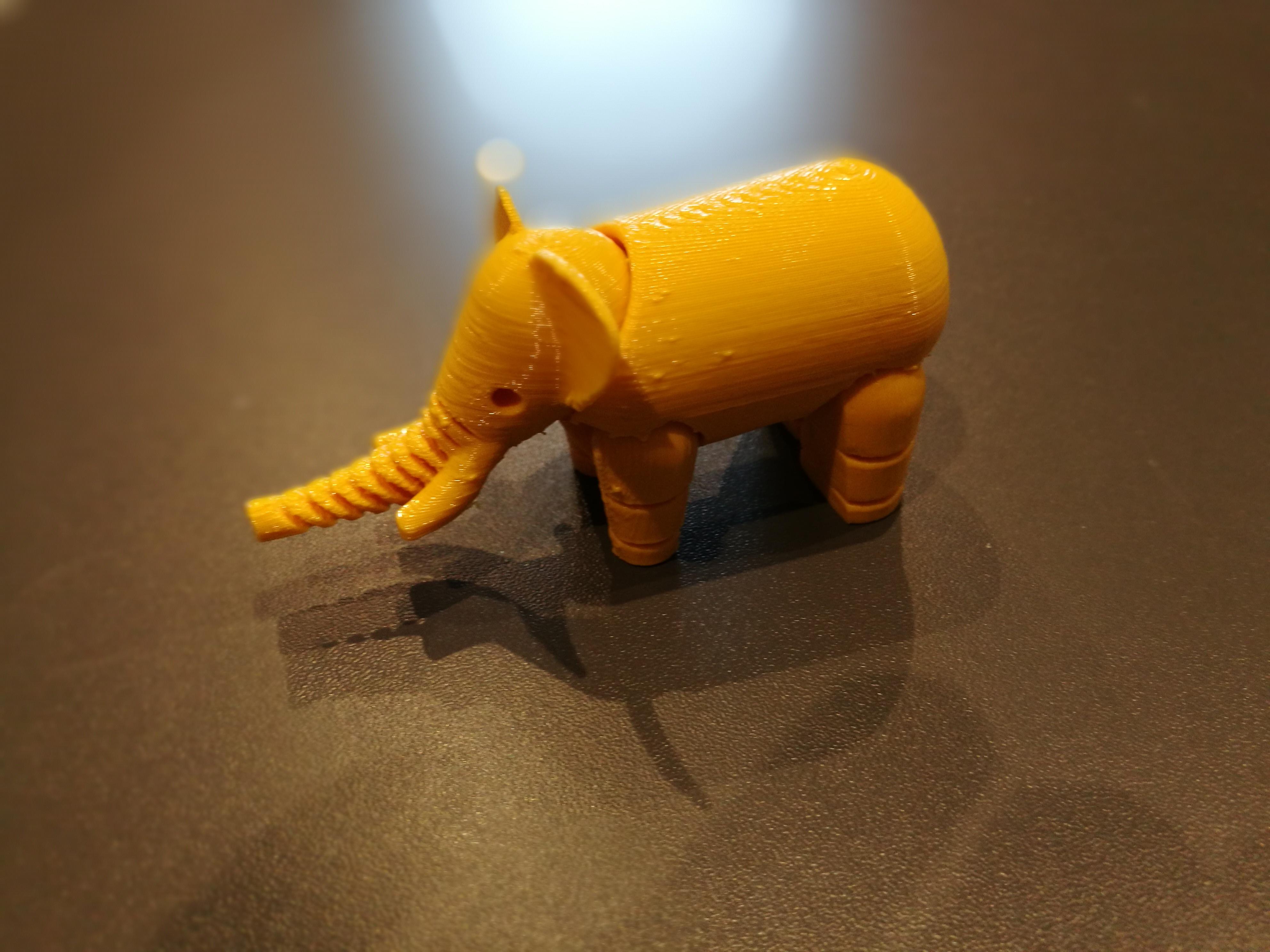 Impression 3D jouet éléphant