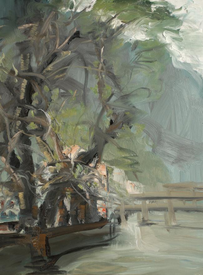 Old Tree by LongHua Lake32x24.JPG
