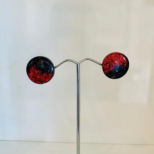 Black & Red Studs