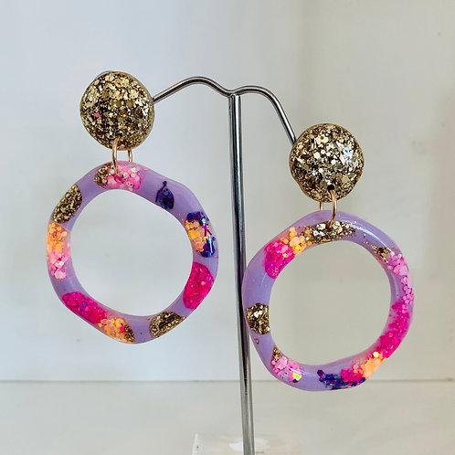 Earrings - Hollow Circle Dangles