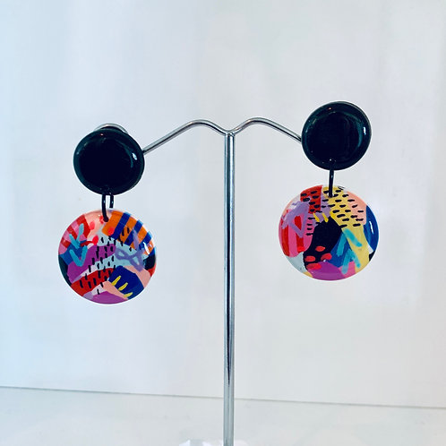 Earrings - Circle Dangles
