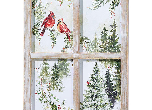 "24"" CARDINAL WINDOW WALL ART"