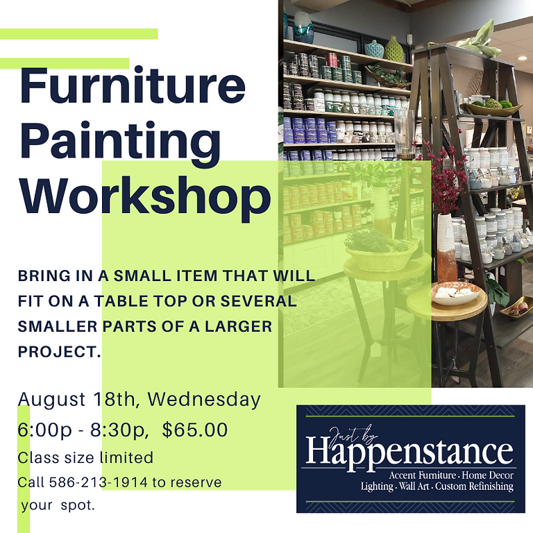Furniture Painting Workshop-Class Full
