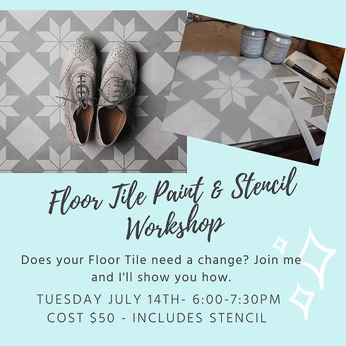 Floor Tile Paint & Stencil Workshop