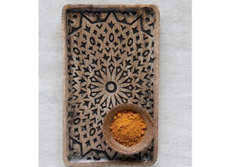 Mango Wood Hand-carved Tray