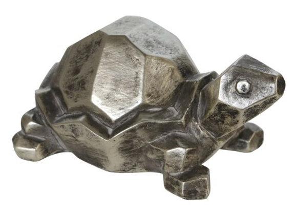 Turtle Figurine - Silver