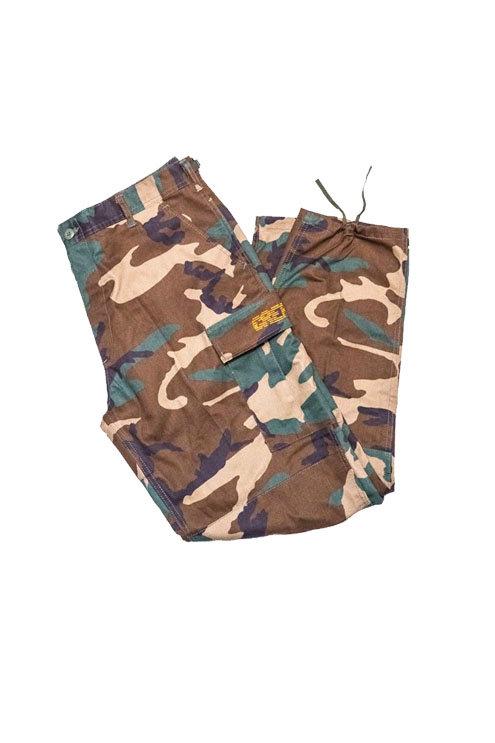 Digital Logo Cargo Pants (Woodland Camo/Orange)
