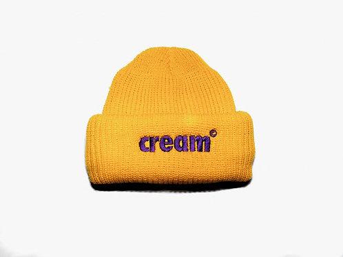 Cream OG Gold / Purple Ski Mask