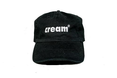 Black/White Embroidered Cap