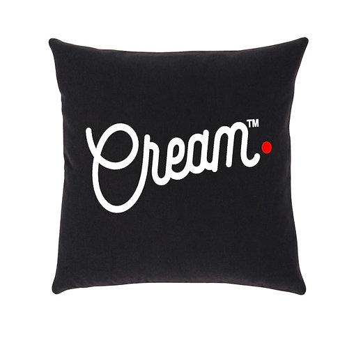 Script Logo Throw Pillow (Black/White/Red)