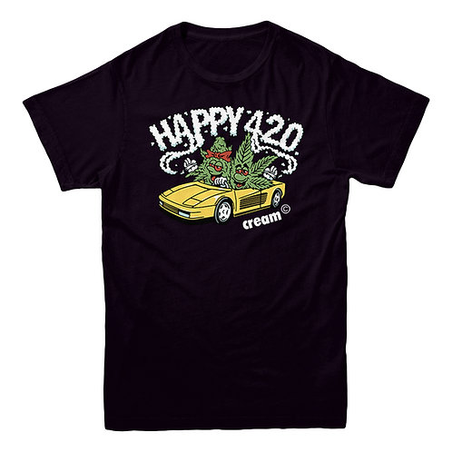 Happy 420 Tee (Black)