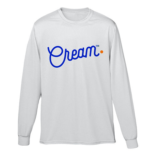 Script Logo Long Sleeve (White/Blue/Orange)
