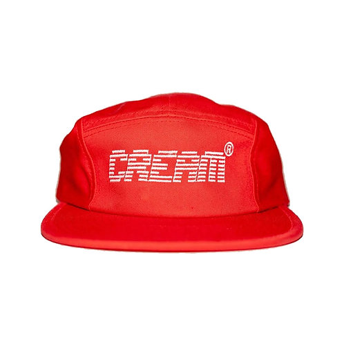 Cream Fire Red 5 Panel