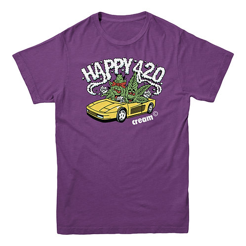 Happy 420 Tee (Purple)