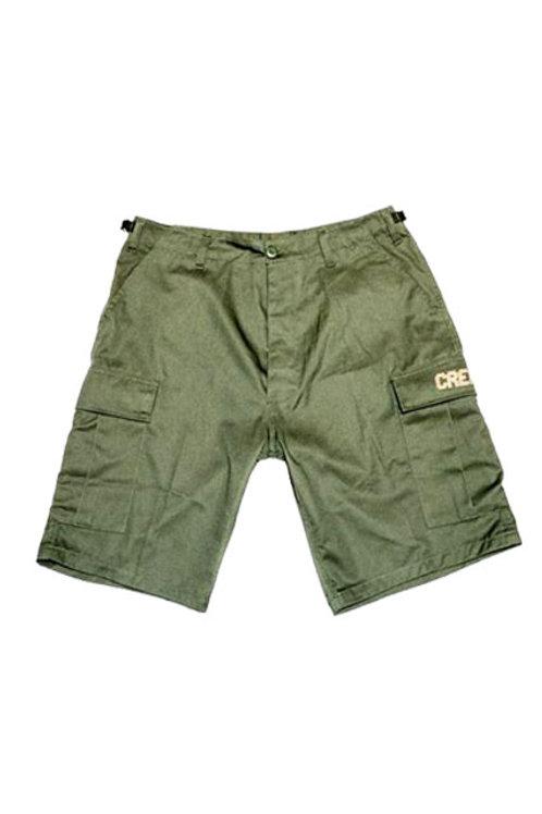 Digital Logo Cargo Shorts (Olive/Tan)