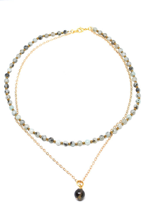 Sesame Jasper Layer Necklace