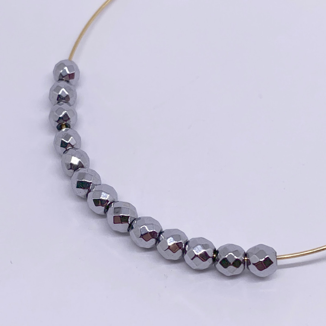 4mm Faceted Titanium Hematite