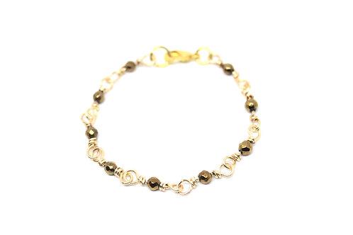 Gold Hematite Elegance Bracelet