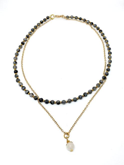 Labradorite Layer Necklace