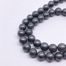 6-7mm Charcoal Grey Hematite