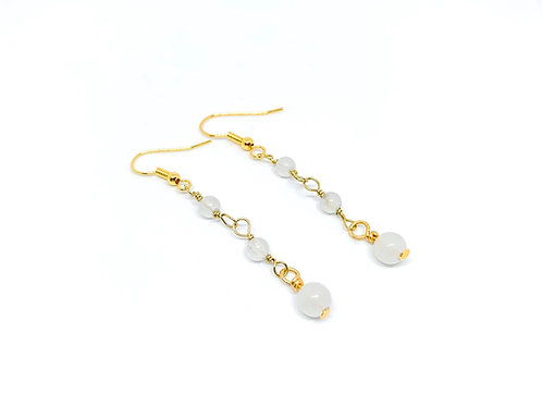 Snow Quartz Drop Earrings