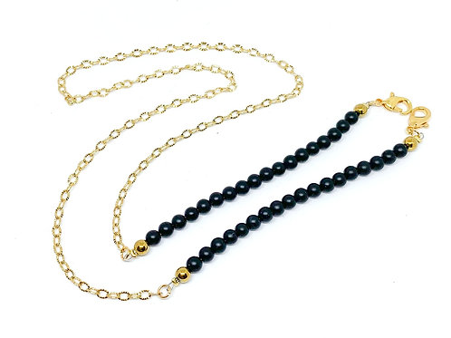 Black Onyx Facemask Chain