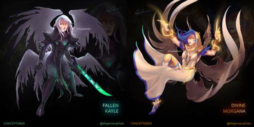 Fallen Kayle / Divine Morgana Concept (Versus)