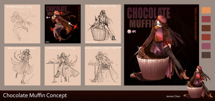 Chocolate Muffin Concept