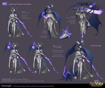 Rei - The Lightning Priestess (Concept)